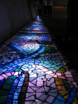 Photocredit: Sebastian Crump: Glass mosaic in the Kew Gardens Rhizotron entrance to the treetop walkway